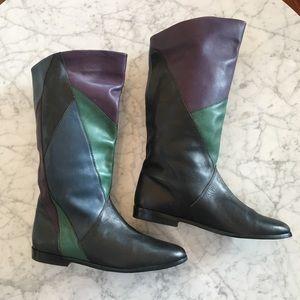 VINTAGE 80's Color-block Boots